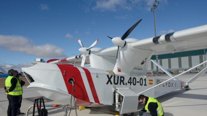 La empresa que prueba el dron contraincendios en el aeropuerto quiere  instalar también la planta de montaje   Noticias de Teruel en Heraldo.es