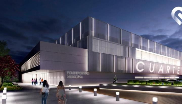 Recreación del nuevo Polideportivo Municipal de Cuarte de Huerva