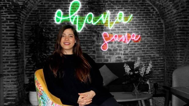Michelle Rubio, fundadora de Ohana Sana, un restaurante que combina la alimentación y las prácticas saludables.