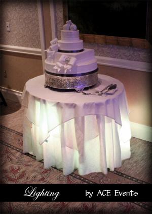 Decora con luces la mesa de la torta bodas  Directorio de