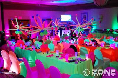 Decora tu fiesta de Halloween con colores fluorescentes