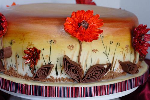 Decora tu torta con la tcnica de filigrana