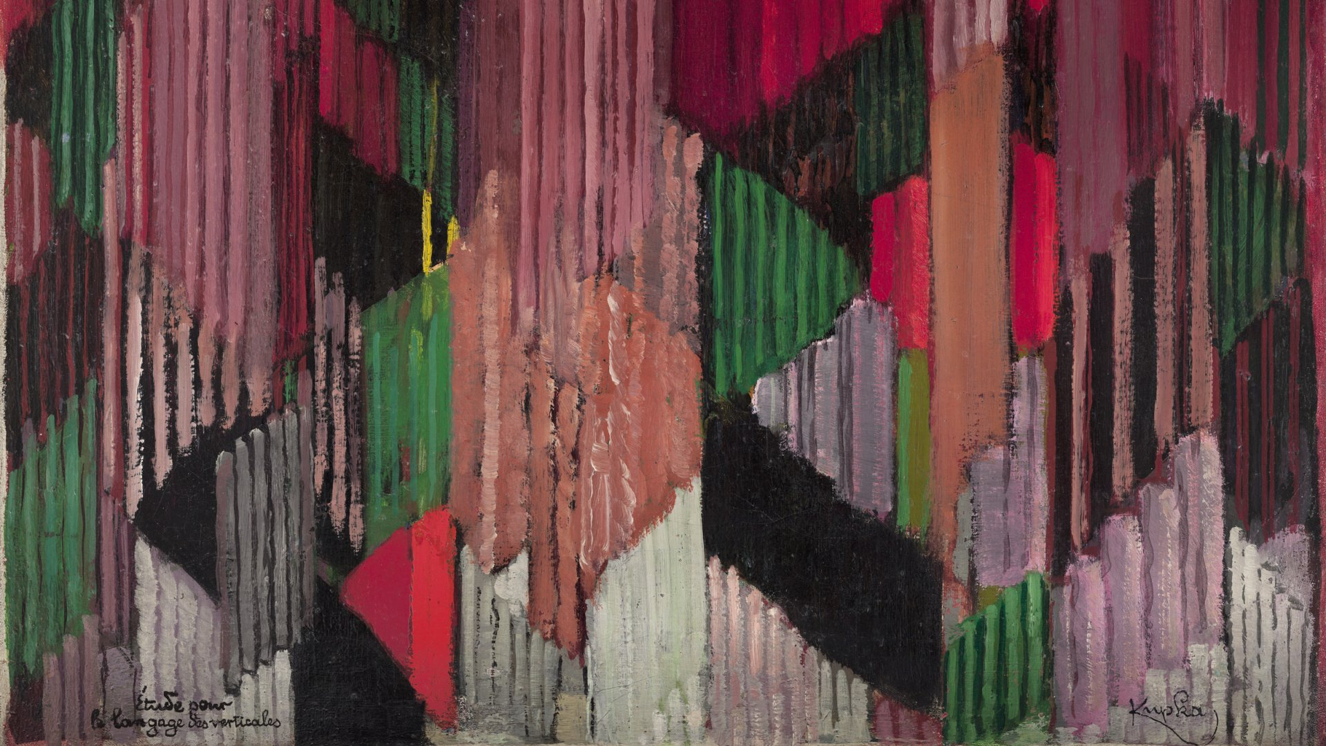 Study Language Of Verticals - Kupka Frantiek