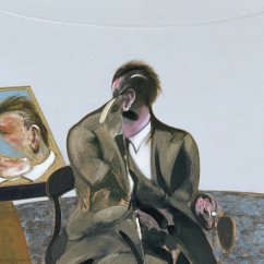 Revolving Chair And Philadelphia Eagles Portrait Of George Dyer In A Mirror - Bacon, Francis | Museo Thyssen-bornemisza