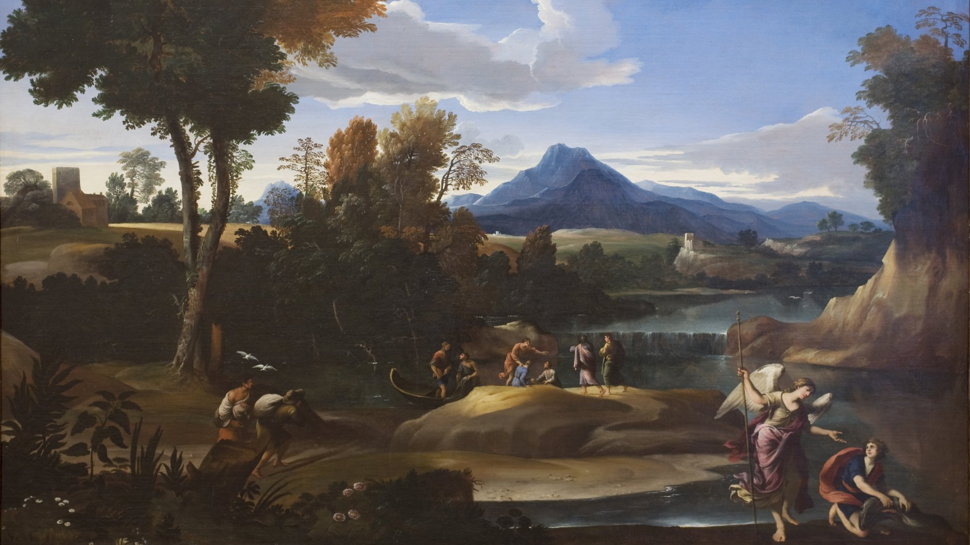 landscape with tobias and archangel