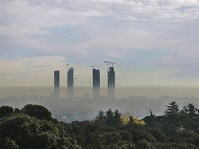 Un Madrid contaminado.