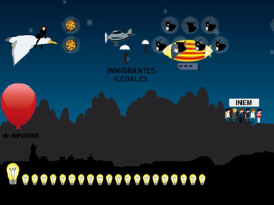 Captura de un momento del videojuego ideado por las la rama juvenil de los conservadores catalanes.