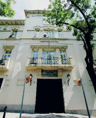 Cuartel Infante don Juan, depósito de uno de los archivos.