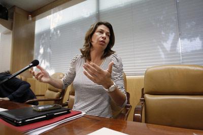 La Consejera de Educación y Empleo, Lucía Figar.-