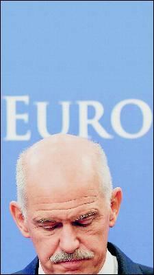 Imagen del presidente griego, Yorgos Papandreu. Reuters