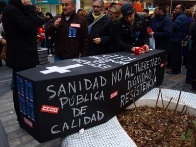 Manifestación por la sanidad en Murcia. -