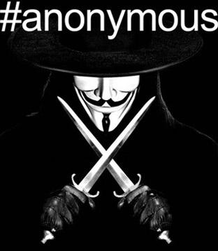 'Hashtag' del colectivo virtual Anonymous