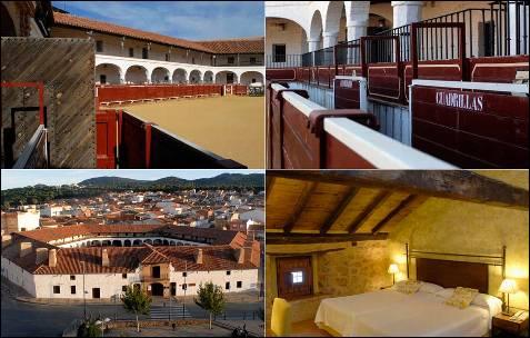 El hotel Plaza de Toros de Almadén es el único del mundo ubicado en una plaza de toros hexagonal, con sus 23 habitaciones distribuidas alrededor del coso.