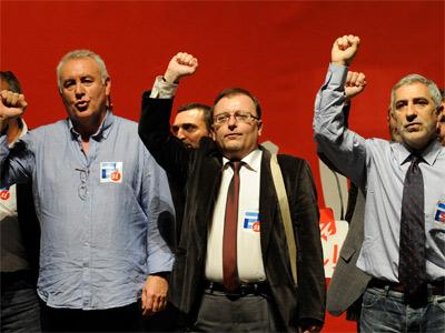 Cayo y Llamazares, durante la campaña. ELOY ALONSO