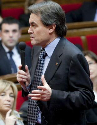 Artur Mas, durante su intervención ante el pleno del Parlament.