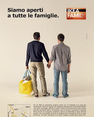 Cartel publicitario gay friendly de Ikea.