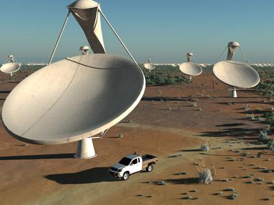 Simulación del futuro telescopio. ska