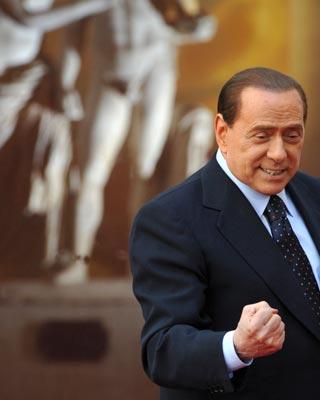 berlusconi.El empresario y presidente italiano es el ejemplo de 'democracia aberrante' que utiliza Ferrajoli para denunciar la crisis política. AFP