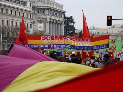 Movilización ciudadana celebrada en Madrid en favor de la República.