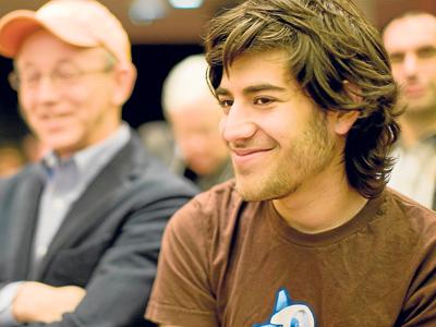 Aaron Swartz, en primer plano, durante una reunión de la organización Creative Commons . Fred Benenson / CC BY 2.0
