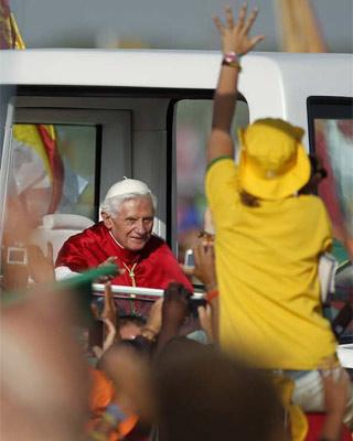 Una imagen del Papa en su reciente visita a Madrid.