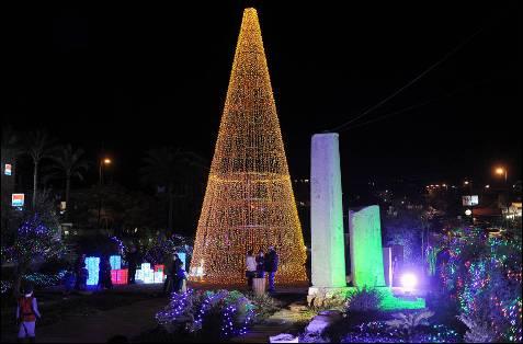 Iluminación navideña en la localidad de Biblos, al Norte de Beirut.