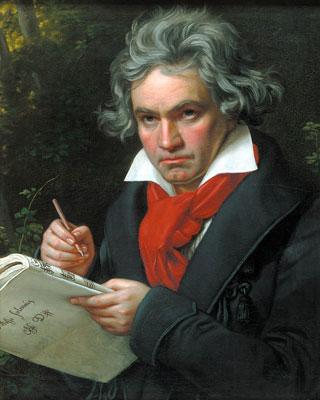 Las obras de Beethoven son las más predecibles.