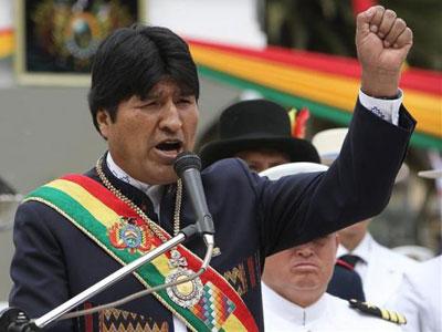 Foto de archivo de Evo Morales, presidente de Bolivia, que ha expropiado la filial de Red Eléctrica Española. EFE