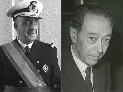 Los ministros franquistas Salvador Moreno y Pedro Nieto.