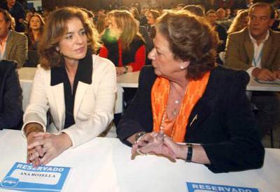 Ana Botella y Rita Barberá, en la reciente reunión de la Intermunicipal del PP.