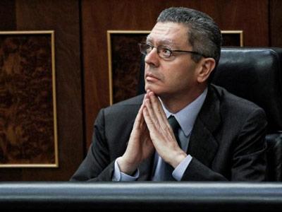 El Ministro de Justicia, Alberto Ruíz-Gallardón.