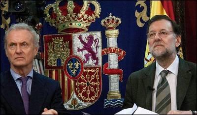 El ministro de Defensa, Pedro Morenés, junto al presidente del Gobierno, Mariano Rajoy, en un imagen de archivo.