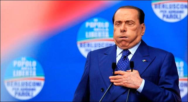 Berlusconi el sábado pasado en Brescia, en un mitin en el que atacó duramente a los jueces.- Reuters