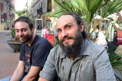 Sergio Zafra (i) y Óscar Mateo (d).