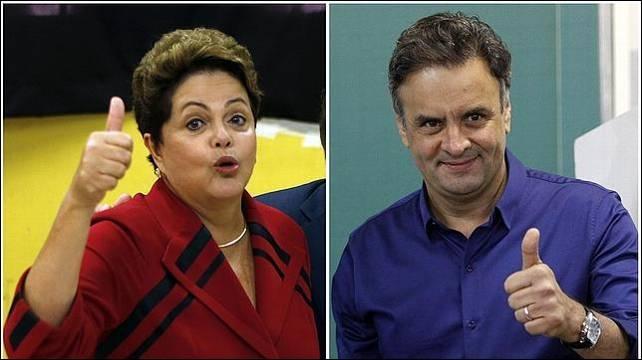Dilma Rousseff (PT) y Aécio Neves (PSDB), candidatos a la presidencia de Brasil.