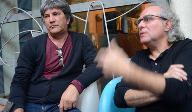 Los editores de la revista 'Cáñamo' Jaime Prats y Moisés López.