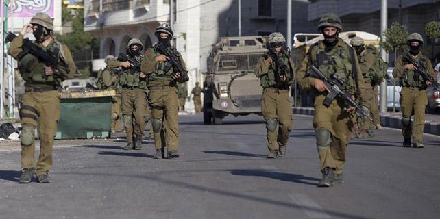 Soldados israelíes, durante una operación militar cerca de la ciudad de Hebrón.