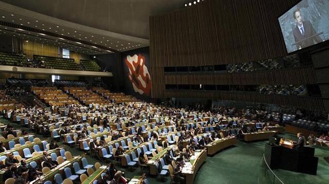 Imagen de la Asamblea General de la ONU.