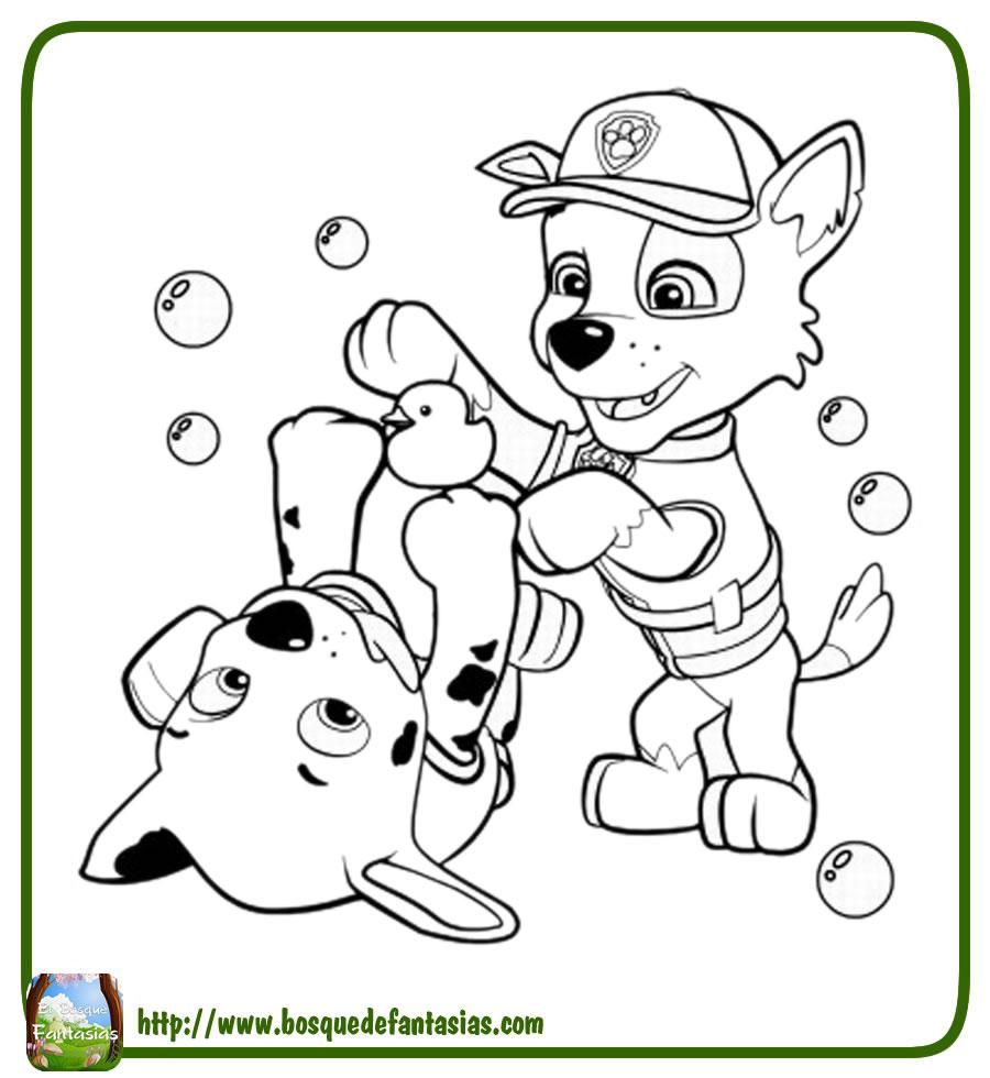 Dibujo Para Colorear La Patrulla Canina Rocky Y Rubble