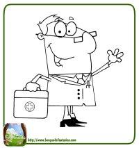 Dibujos De Medicos Y Enfermeras Para Colorear 99