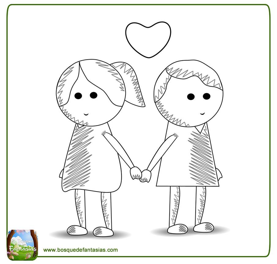 Dibujos Chidos De Amor Imagenes Para Colorear Gratis