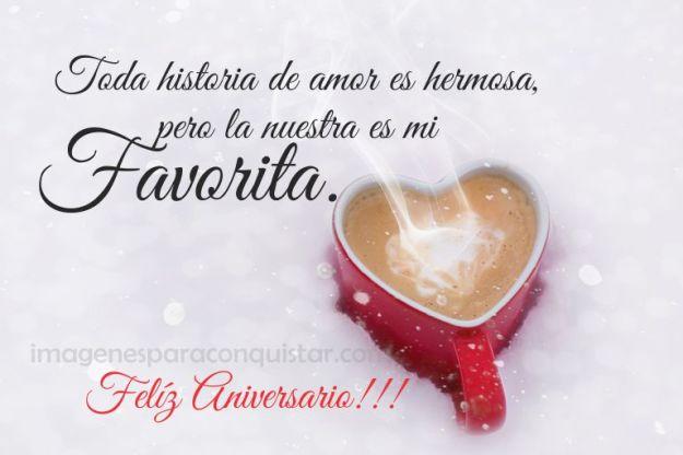Cartas con Frases de Feliz Aniversario Amor Mio Te Amo