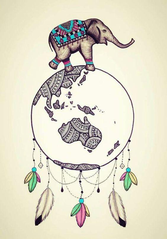 Fondos de Pantalla Elefantes Mandala Hindú Para Celular