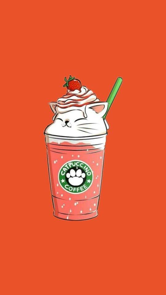 Fondos De Pantalla Starbucks Wallpapers Kawaii Coffee Iphone