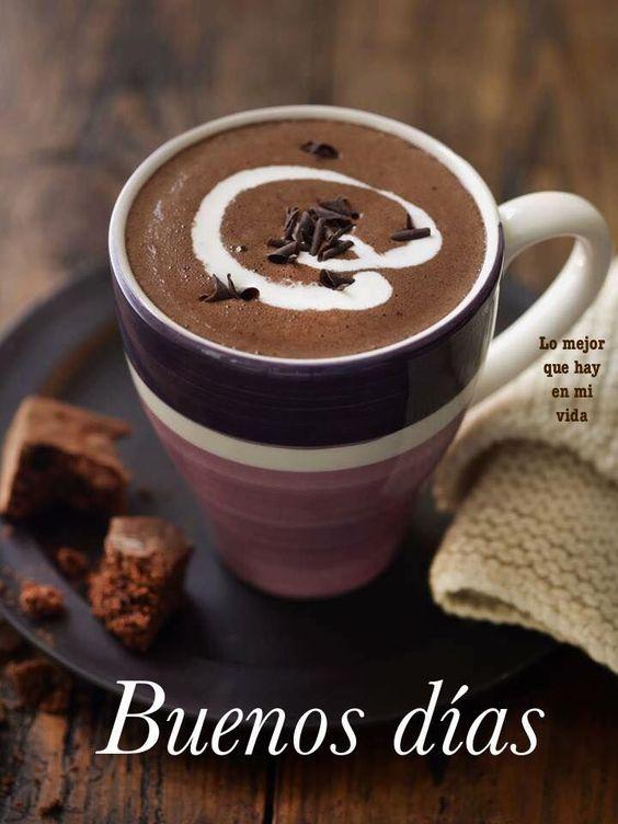Imágenes de Buenos Días con Café y Flores