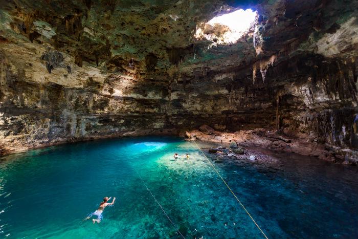 Dzitnup Yucatn dos cenotes para echar un vistazo al