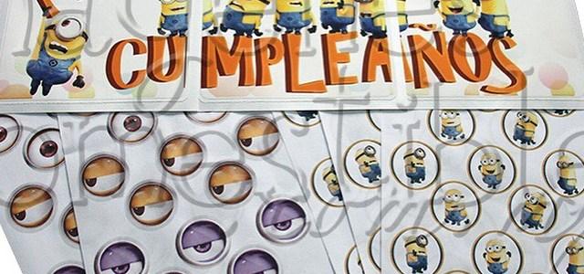 Decora pastel y gelatina con imágenes comestibles de los Minion