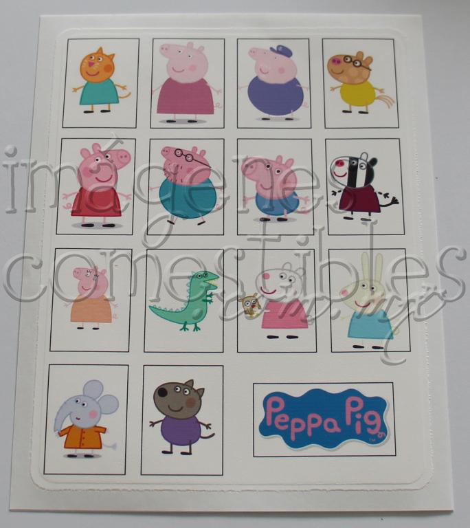 Impresión comestible de Peppa Pig