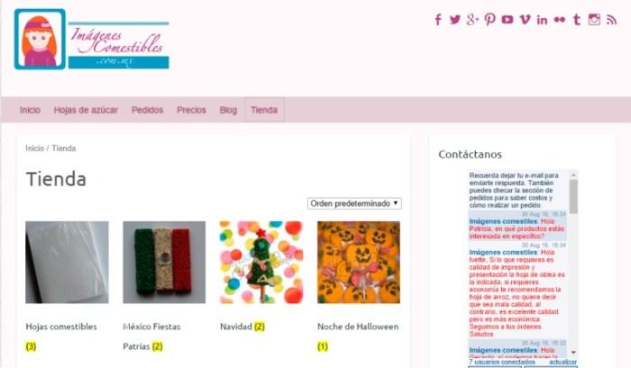 Tienda en línea imágenes comestibles