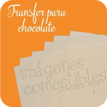 Transfer para Chocolate Imágenes Comestibles